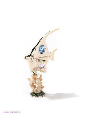 Фигурка на кораллах Рыбка-Луна Юнион. Цвет: золотистый