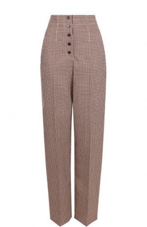 Шерстяные брюки с завышенной талией и стрелками Stella McCartney. Цвет: бежевый
