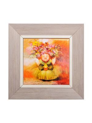 Картина Ангел хранитель жизни Artangels. Цвет: оранжевый, бежевый, желтый