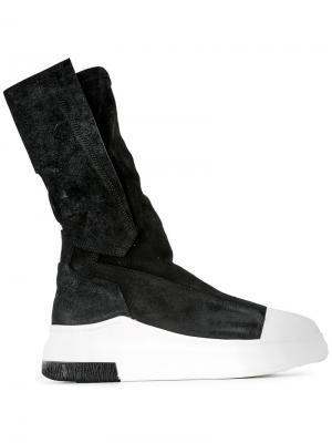 Ботинки на контрастной подошве Cinzia Araia. Цвет: чёрный