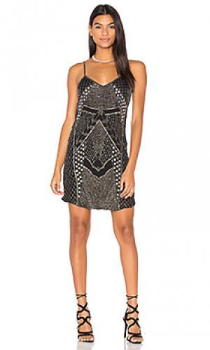 Платье-комбинация vesper Haute Hippie. Цвет: черный