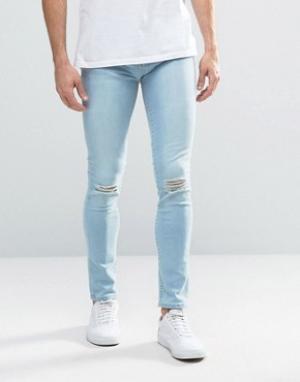 Waven Синие рваные джинсы Wave. Цвет: синий