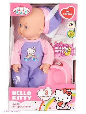 Пупс Карапуз Hello Kitty. Цвет: фиолетовый, розовый