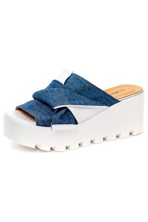 Сабо Grand Style. Цвет: джинса, белый