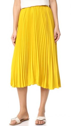 Длинная плиссированная юбка endless rose. Цвет: медово-желтый