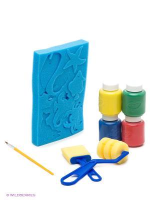Набор для рисования морское дно Crayola. Цвет: синий, красный, желтый