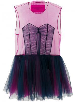 Платье Tulle Icon 1.3 Viktor & Rolf. Цвет: розовый и фиолетовый