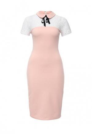 Платье City Goddess. Цвет: розовый