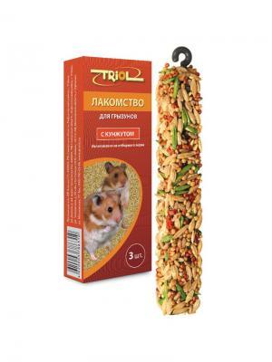 Лакомство для грызунов с кунжутом (уп. 3 шт) TRIOL. Цвет: оранжевый