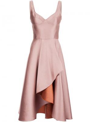 Многослойное коктейльное платье без рукавов Jason Wu. Цвет: розовый и фиолетовый