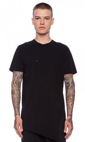 Простая футболка короткий рукав асимметричный nefarious Drifter. Цвет: черный
