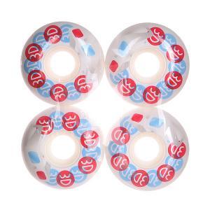 Колеса для скейтборда  Glasses Blue/Red/White 101A 53 mm 3D. Цвет: белый,голубой,красный