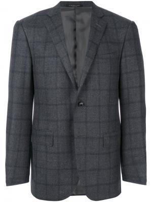 Checked blazer Corneliani. Цвет: серый
