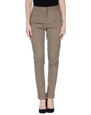 Повседневные брюки DIVINA. Цвет: зеленый-милитари