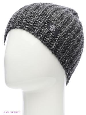Шапка BUFF KNITTED HATS STREAM GREY DARKSHADOW. Цвет: серый