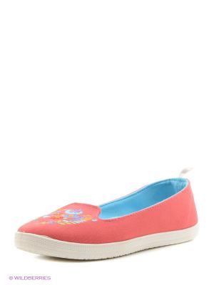 Слипоны CentrShoes. Цвет: розовый