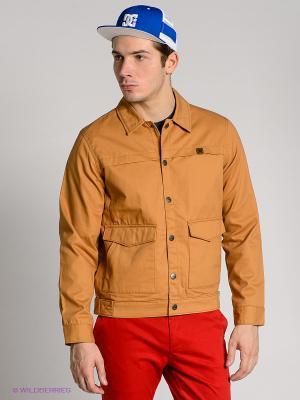 Куртка DC Shoes. Цвет: светло-коричневый