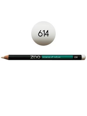 Zao карандаш для глаз, бровей, губ 614 (белый) (1,14 г). Цвет: белый