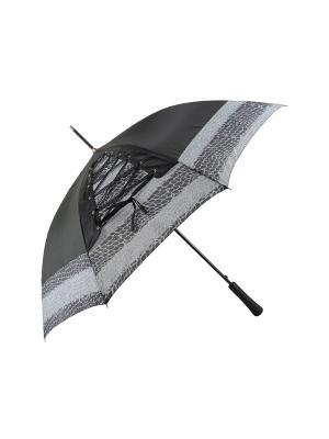 Зонт-трость с шнуровкой Дерево Счастья. Цвет: серый