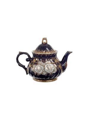 Чайник, 1000 мл Elff Ceramics. Цвет: синий, коричневый