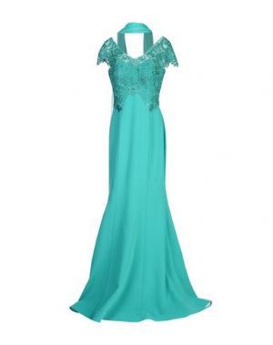 Длинное платье MUSANI COUTURE. Цвет: изумрудно-зеленый