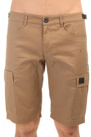 Шорты классические  Cargo Shorts Strap Beige Skills. Цвет: бежевый