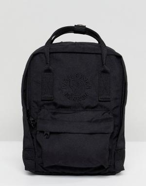 Fjallraven Черный рюкзак Re-Kanken. Цвет: черный