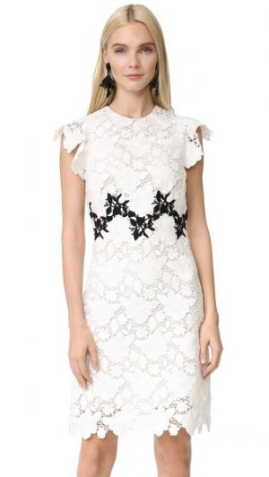 Платье без рукавов Giambattista Valli. Цвет: белый