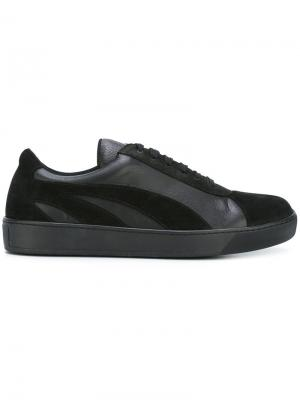 Кроссовки с панельным дизайном Tomas Maier. Цвет: чёрный