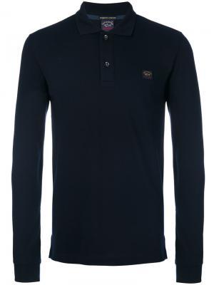 Longsleeved polo shirt Paul & Shark. Цвет: синий