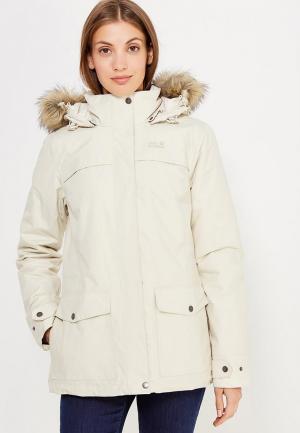 Куртка утепленная Jack Wolfskin. Цвет: бежевый