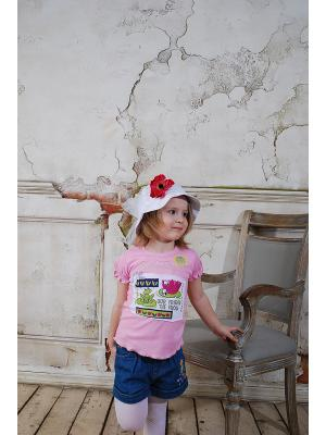 Джемпер с коротким рукавом ZEBRA KIDS. Цвет: розовый