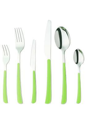 Набор столовых приборов 24 предмета Barton Steel. Цвет: зеленый, оранжевый, темно-фиолетовый