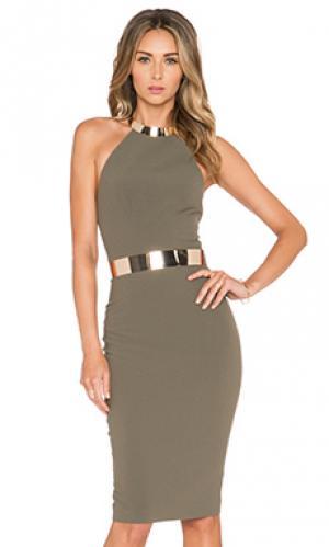 Платье pascal Elle Zeitoune. Цвет: оливковый
