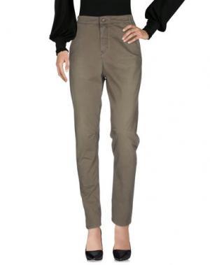 Повседневные брюки E-GÓ. Цвет: зеленый-милитари