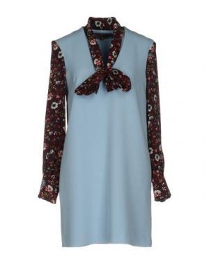 Короткое платье SPACE STYLE CONCEPT. Цвет: небесно-голубой