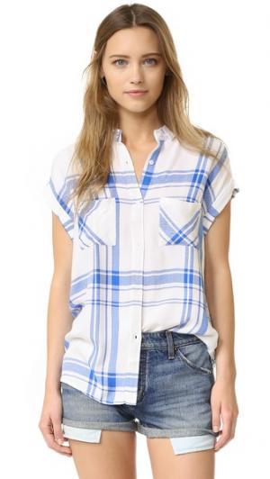 Рубашка на пуговицах Britt RAILS. Цвет: белый/морской