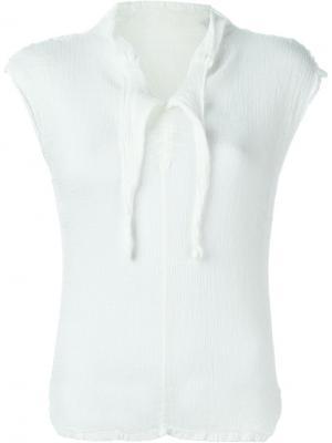 Блузка с мятым эффектом Issey Miyake Cauliflower. Цвет: белый
