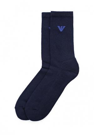 Комплект носков 2 пары Emporio Armani. Цвет: синий