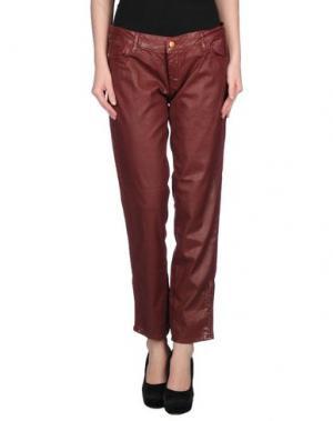 Повседневные брюки REIKO. Цвет: красно-коричневый