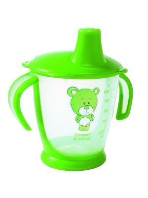Чашка-непроливайка, 180 мл. Медвежонок 9м+ Canpol babies. Цвет: зеленый, прозрачный