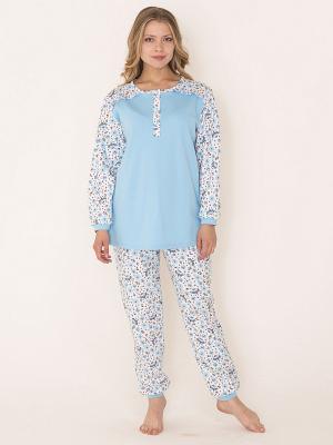 Пижама женская Лори. Цвет: голубой