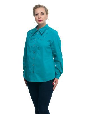 Блузка OLSI. Цвет: бирюзовый