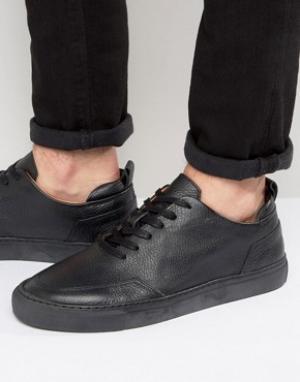 Zign Кожаные кроссовки. Цвет: черный