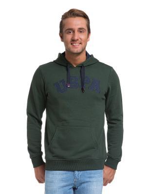 Толстовка U.S. Polo Assn.. Цвет: темно-зеленый