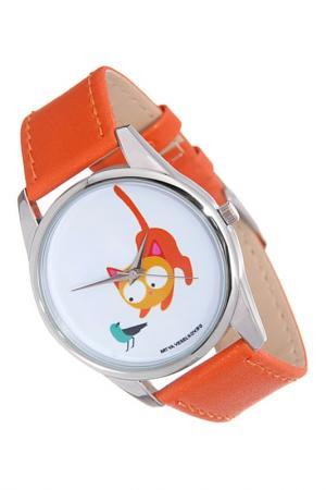Часы Кошка и птичка MITYA VESELKOV. Цвет: золотистый
