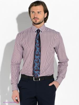 Рубашка Alfred Muller. Цвет: темно-красный, голубой