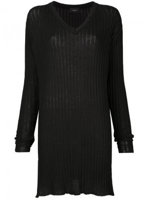 Ribbed tunic jumper G.V.G.V.. Цвет: чёрный