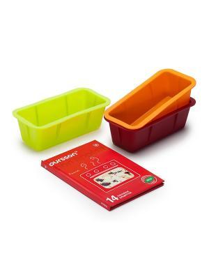 Набор силиконовых мини-форм для выпечки OURSSON. Цвет: зеленый, оранжевый