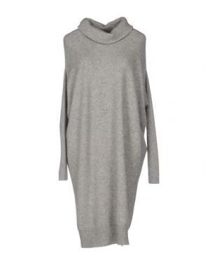 Короткое платье SILK AND SOIE. Цвет: серый